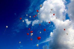 Ballonnen in de lucht